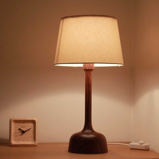 Beladesign. SISTHER black walnut wood table lamp