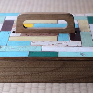 Collage wooden box▥ Large / A