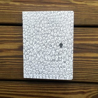 Non-aging wire-bound book hand | black and white rabbit