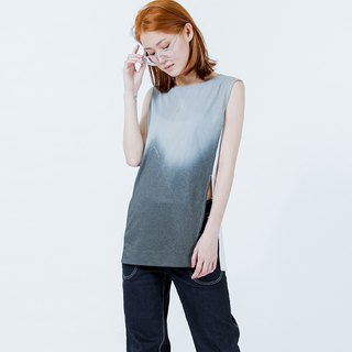 潮汐印花長上衣 Tides Printed Long Top