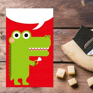Small crocodile series postcard - marry me