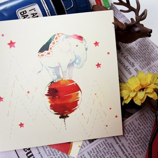 Elephant balloon card --- beauty from the art into the life of Minervac