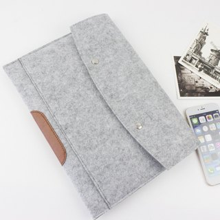 Original handmade light gray blankets Apple computer protective cover blankets sets of laptop bags ipad Air / ipad Air 2 iPad 2017 (can be tailored) - ZMY021LGIPA