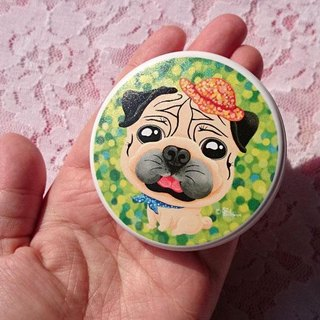 Pocket Mirror-Relaxing pug