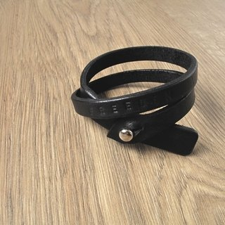 ROCK x detour handmade leather bracelet (black)