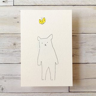 Post Card Set - Bear and Butterfly H4