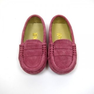Fort Tony Wang matte leather handmade shoes kids [/ bean bottom / Rose]