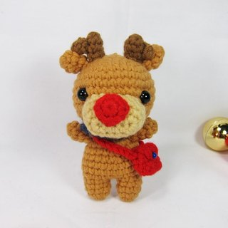 Red nose elk - key ring - Christmas