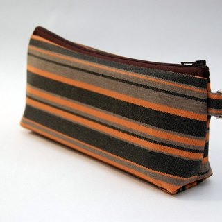 Casual-life hand made fashion striped cosmetic bag / pencil case