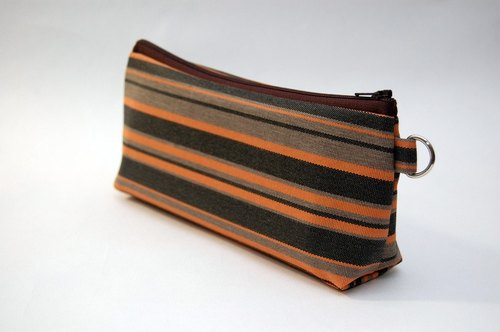 Casual-life hand-made fashion striped cosmetic bag / Pencil
