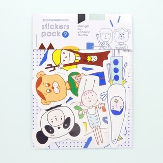 Animal People / Medium Sticker Set 2-9