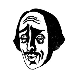 [Cold Shao Xiaoxiao Shakespeare] square wood rubber stamp