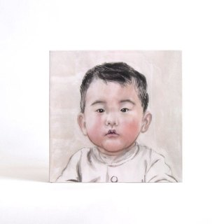 30cmx30cm Custom Portrait  with Easy Gallery Wrap, Child's Portrait, Children's Personalized Original Hand Drawn Portrait from Your Photo, OOAK watercolor Painting Ideas Gift