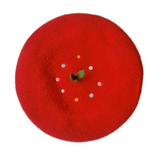 The new original painter cap beret see also spit sprout branches handmade wool felt hand-made Christmas gifts