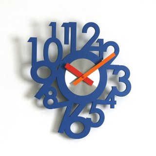 Big Number Wooden Wall Clock