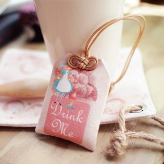 Yu Shou tea bags Drink Me Alice in Wonderland ▌ ▌ pink sweet peach x Alice