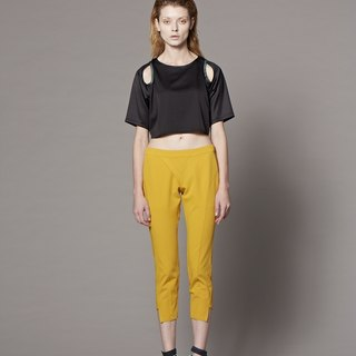 Pants with Panel Detail (Yellow)