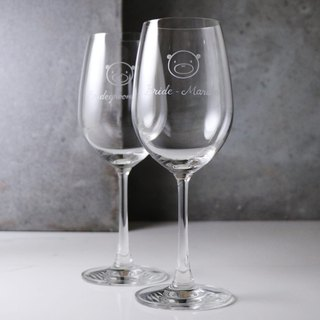 (One pair price) 425cc [wedding anniversary] Bear Bear BEAR engraving glass of red wine on Valentine's Day wedding gift cup