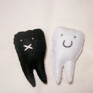 A combination of two teeth, tooth decay v.s showdown!