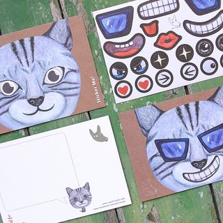 Sticker Me! Music stickers friends! _ American Shorthair cat