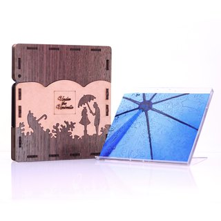 65P wooden puzzle _ under the umbrella