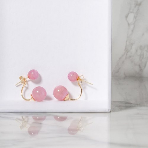 Fashion earrings pink marbled lacoste