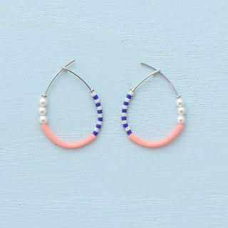 [ tears -pink ] hoop pierce