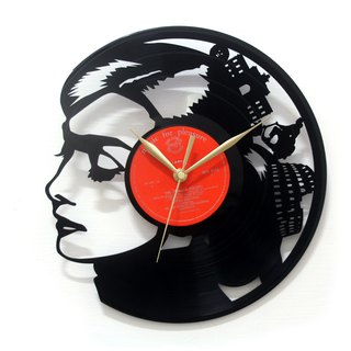 [Time traveler 1888] vinyl clock. Audrey Hepburn-Roman Holiday