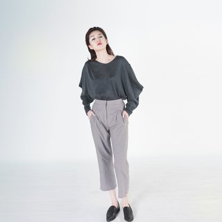 Lomia Gingham Slouchy Peg Trouser