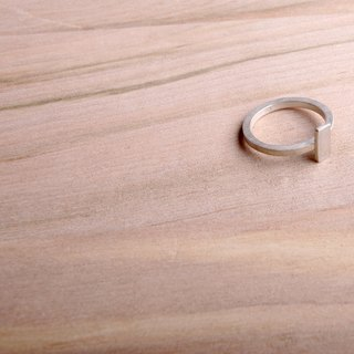 [ODY] HandMade × MINI BLOCK RING × simple design silver rings handmade