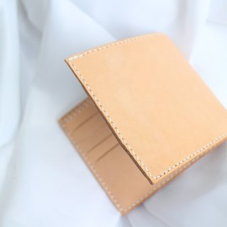 Make Your Choicesss vegetable tanned leather with hand-stitched phase Purse / Wallet / wallet / short fiscal