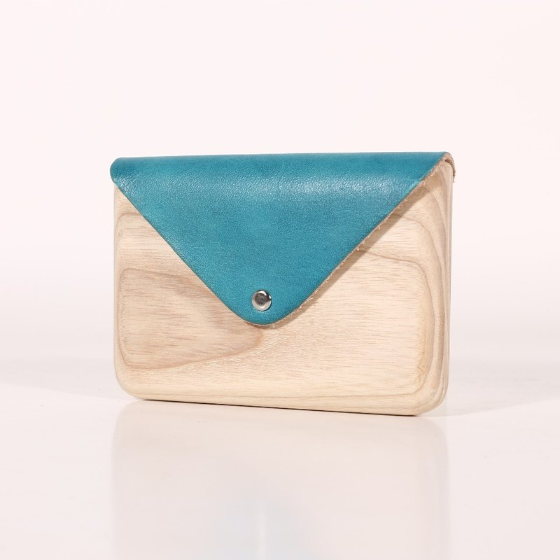 Wooden Cardholder (Blue)