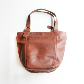 A ROOM MODEL - VINTAGE, BA-0474 COACH brown big shoulder bag