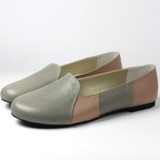 Stitching gray soft loafers