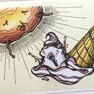 Melt day, melt day, melt day - artwork available in Greeting Card