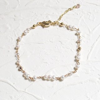 Small pearl bracelet natural basic
