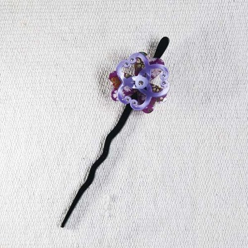 Twist cherry, lucky flower, hairpin, hairpin, hair plug - purple