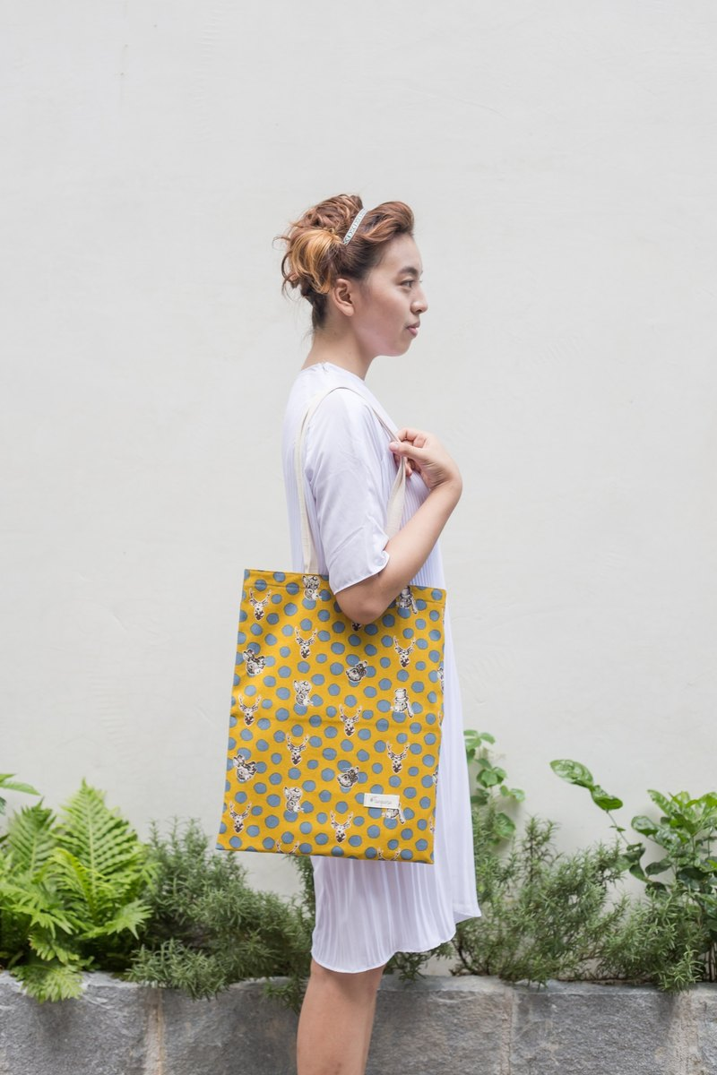 Exclusive minimalist shoulder bag canvas handbags ::: Dream Forest (mustard yellow x gray) ::: [has been revised before the next one, please inbox designer]