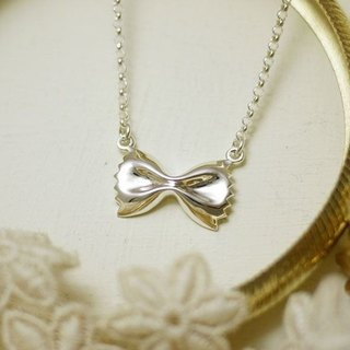 GT Butterfly Silver Necklace