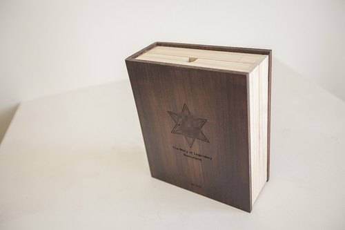 Custom wood book case