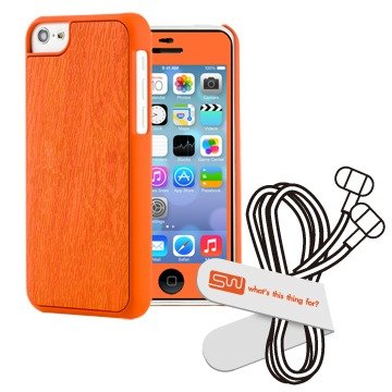 SIMPLE WEAR iPhone 5C Case forest-based wood combination - Orange (4716779653472)