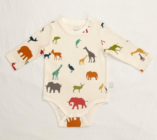 gujui love animals - organic cotton long sleeve fart clothing