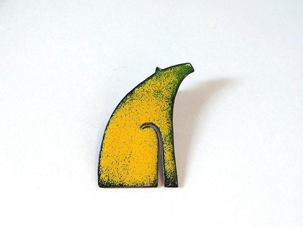 Polar bears enamel brooch badge / Enamel