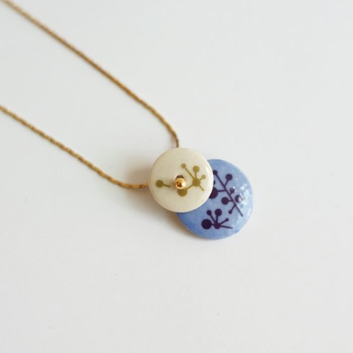 kedo porcelain flower jewelry necklace two-piece series of branches