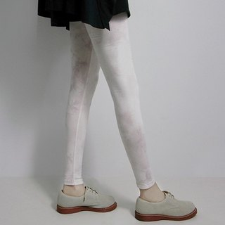 I A N Design natural hand-dyed - Lithospermum light staining dye cloud ultra elastic organic cotton leggings Organic Cotton