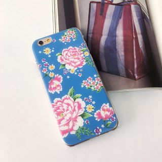 Hong Kong Style Chinese Flower Blue Patten Print Soft / Hard Case for iPhone X,  iPhone 8,  iPhone 8 Plus,  iPhone 7 case, iPhone 7 Plus case, iPhone 6/6S, iPhone 6/6S Plus, Samsung Galaxy Note 7 case, Note 5 case, S7 Edge case, S7 case