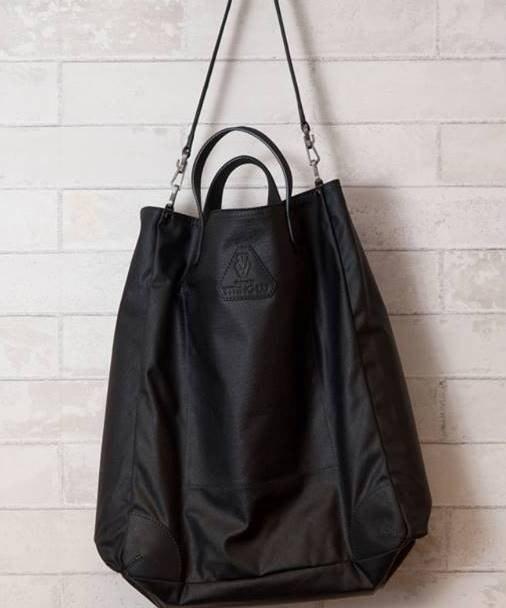 【 Old Pal 】經典防水蠟帆布肩背手提托特包 - 霧黑