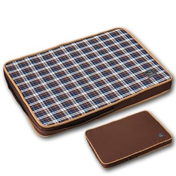 """Lifeapp"" Pet pressure relief mattress M (brown plaid) W80 x D55 x H5 cm"
