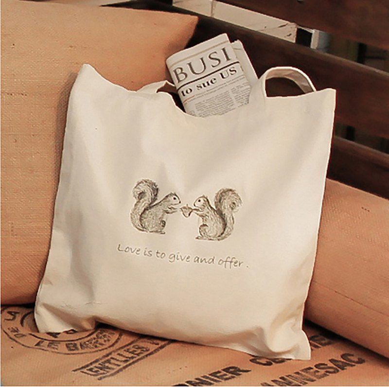 Little Forest Partner - Squirrel Canvas Bag