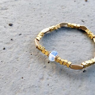 Natural stone/brass bracelet - protein. Quality (accessories/wear/gifts)